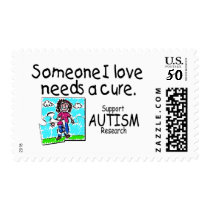 Someone I love Needs A Cure (Girl Crying) Postage