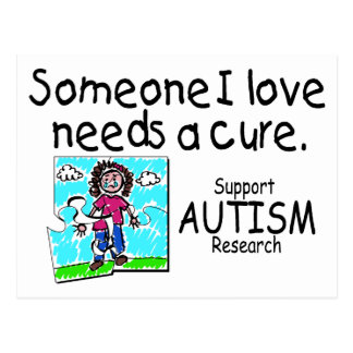 Someone I love Needs A Cure (Girl Crying) Postcard