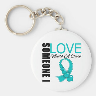 Someone I Love Needs A Cure PCOS Basic Round Button Keychain