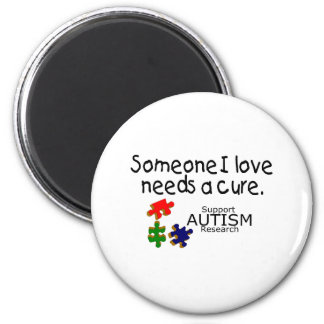 Someone I Love Needs A Cure (PP) 2 Inch Round Magnet