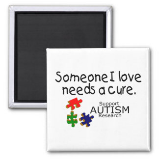Someone I Love (Puzzle Pieces) 2 Inch Square Magnet