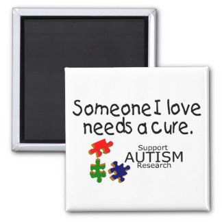 Someone I Love (Puzzle Pieces) Refrigerator Magnets