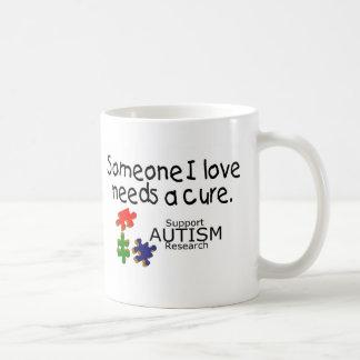 Someone I Love (Puzzle Pieces) Classic White Coffee Mug