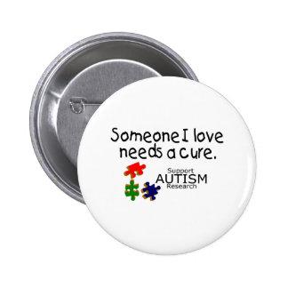 Someone I Love (Puzzle Pieces) Pinback Button