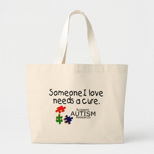 Someone I Love (Puzzle Pieces) Tote Bags