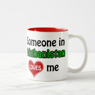 Someone in Afghanistan loves me Two-Tone Coffee Mug