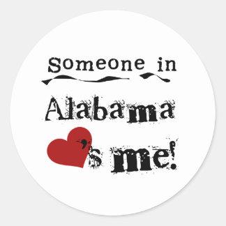 Someone In Alabama Loves Me Classic Round Sticker