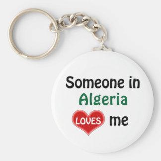 Someone in Algeria Loves me Basic Round Button Keychain