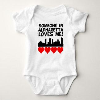 Someone In Alpharetta Georgia Loves Me Baby Bodysuit