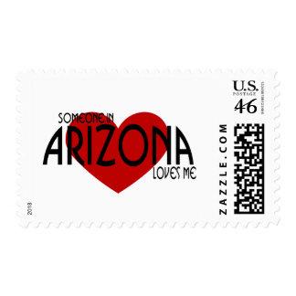 Someone in Arizona Loves Me! Postage Stamps