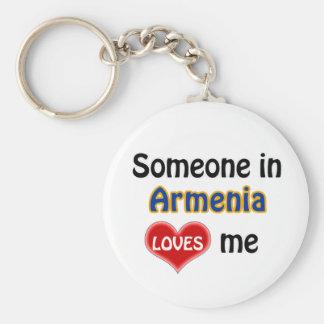 Someone in Armenia Loves me Keychain
