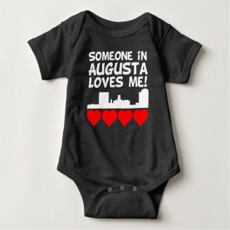 Someone In Augusta Georgia Loves Me Baby Bodysuit
