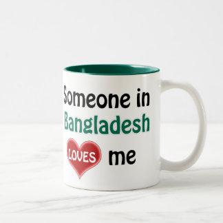 Someone in Bangladesh loves me Two-Tone Coffee Mug