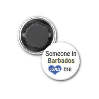 Someone in Barbados loves me Magnet