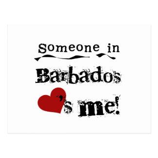 Someone In Barbados Loves Me Postcard