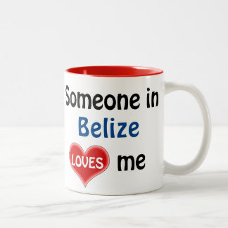 Someone in Belize loves me Two-Tone Coffee Mug