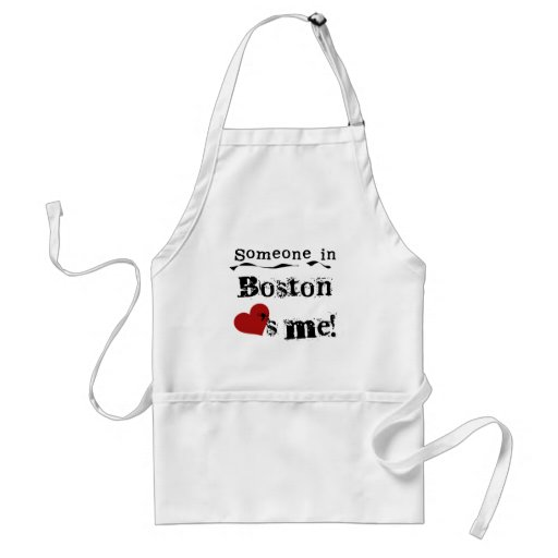 Someone in Boston Adult Apron