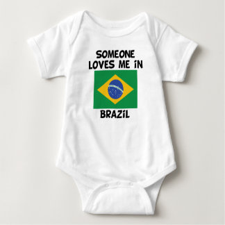Someone In Brazil Loves Me Baby Bodysuit