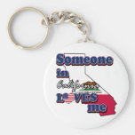 Someone in california loves me keychain