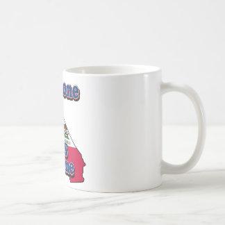 Someone in california loves me classic white coffee mug