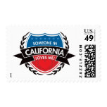 Someone In California Loves Me Postage Stamps