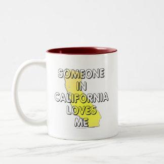 Someone in California loves me Two-Tone Coffee Mug