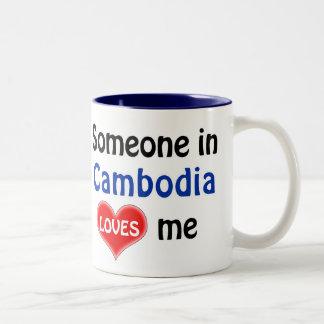 Someone in Cambodia loves me Two-Tone Coffee Mug