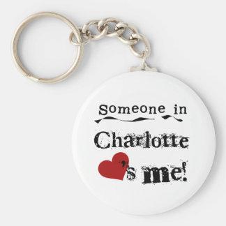 Someone in Charlotte Keychains