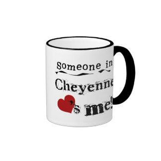 Someone in Cheyenne Ringer Coffee Mug