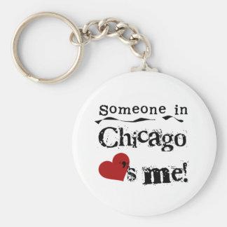 Someone in Chicago Basic Round Button Keychain