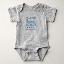 Someone In Chicago Loves Me Flag Baby Bodysuit
