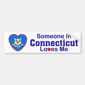 Someone In Connecticut Loves Me Car Bumper Sticker