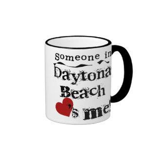 Someone in Daytona Beach Ringer Mug