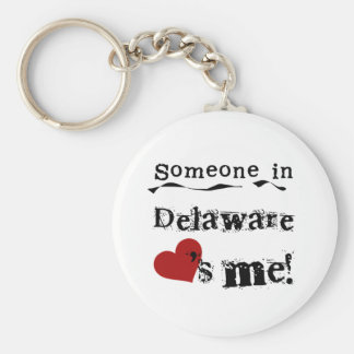 Someone In Delaware Loves Me Basic Round Button Keychain
