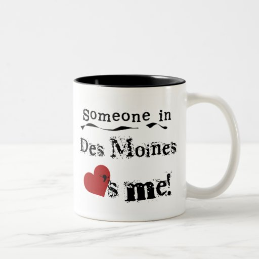 Someone in Des Moines Two-Tone Coffee Mug