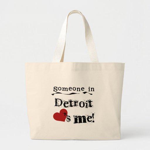 Someone in Detroit Jumbo Tote Bag