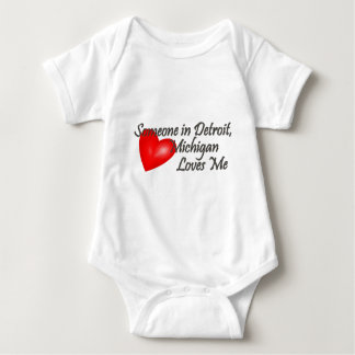 Someone in Detroit Loves Me Baby Bodysuit