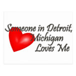 Someone in Detroit Loves Me Post Card