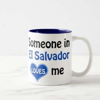 Someone in El Salvador loves me Two-Tone Coffee Mug