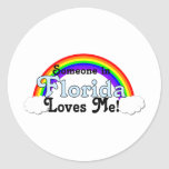 Someone in Florida Loves Me Classic Round Sticker