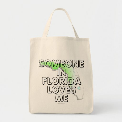 Someone in Florida loves me Grocery Tote Bag
