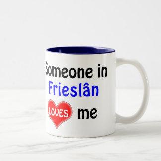 Someone in Frieslân loves me Two-Tone Coffee Mug
