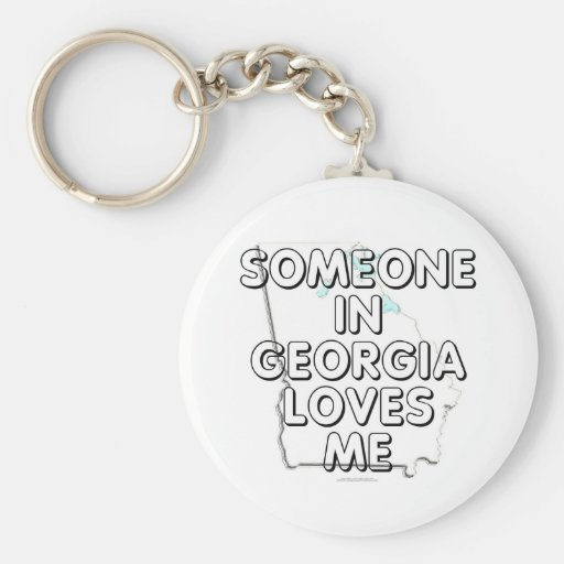 Someone in Georgia loves me Basic Round Button Keychain