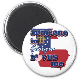 Someone in Georgia loves me Fridge Magnets