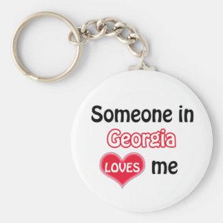 Someone in Georgia Loves me Keychain