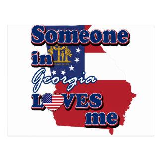 Someone in Georgia loves me Postcard