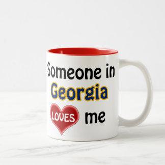 Someone in Georgia (US State) loves me Two-Tone Coffee Mug