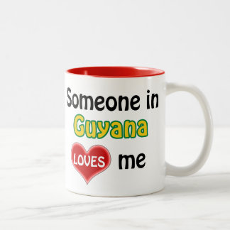 Someone in Guyana loves me Two-Tone Coffee Mug