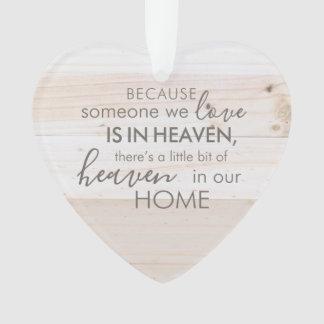 Someone In Heaven Acrylic Heart Ornament