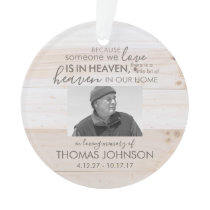 Someone In Heaven Acrylic Photo Ornament